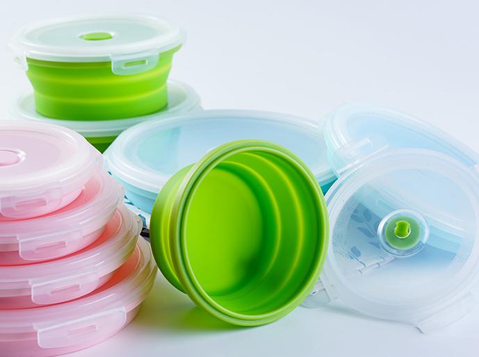 可叠式硅胶碗