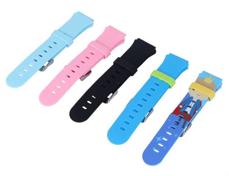 儿童智能手表单色硅胶表带